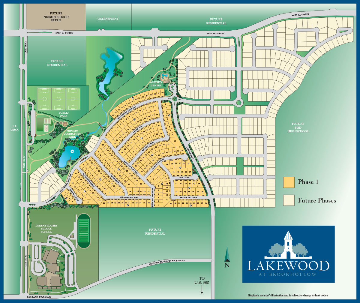 Lakewood at Brookhollow Overall Master Plan